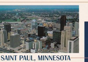 Minnesota St Paul Aerial View Of Downtown