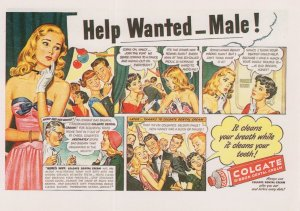 Colgate Toothpaste How To Get Dates Men Fresh Breath Advert Postcard