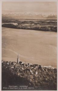 Uberlingen Haldenhof Alpes Aerial Old German Postcard