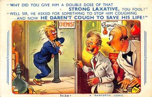 Man with a Cough, Given a Laxative Instead Cartoon Occupation, Doctor 1963