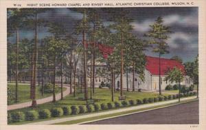 North Carolina Wilson Night Scene Howard Chapel and Kinsey Hall Atlantic Chri...