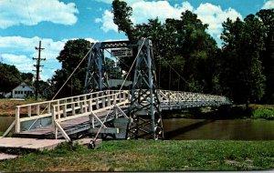 Illinois Pontiac Suspension Bridge Over Vermilion River