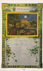 Kentucky My Old Kentucky Home Song Card