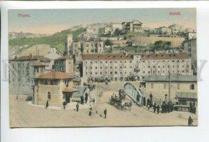 432730 Croatia Rijeka FIUME Susak bridge carriage Vintage tinted postcard
