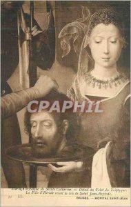Postcard Old Bruges Hopital Saint John Herod's Daughter Receives the Head of ...