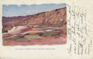 Summit of Pulpit Terrace Yellowstone National Park WY Embossed 1905 Postcard E10
