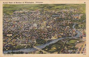 Delaware Aerial View Of Section Of Wilmington