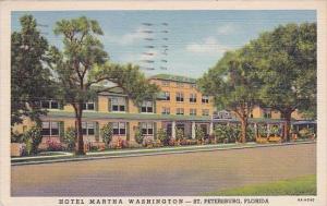 Florida Saint Petersburg Hotel Martha Washington 1955