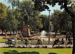 Norway Oslo The University Grounds Poet Statue Monument Fountain