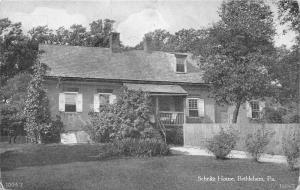 Bethlehem Pennsylvania~Schnitz Moravian House (Northampton County)~1910 Postcard