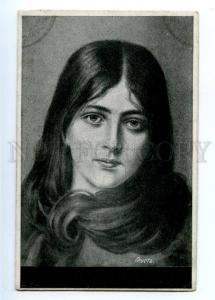 149187 Sad BELLE Long Hair by KAULBACH vintage PC