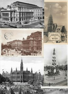 Austria - Wien Vienna Postcard Lot of 17 RPPC and Printed 01.04