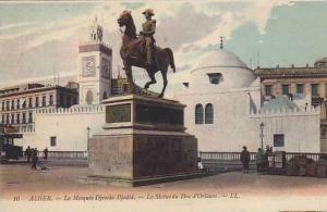 La Mosquee Djemaa Djedid, La Statue Du Duc d'Orleans, Alger, Algeria, Africa,...