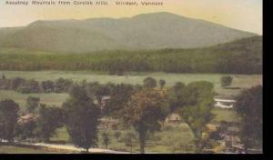 Vermont Windsor Ascutney Mountain From Cornish Hills Albertype