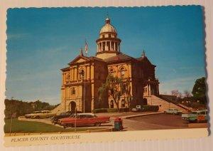 Vintage Postcard Placer County Courthouse Auburn California 1985 old cars autos