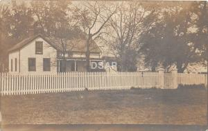 A79/ Elmwood Illinois Il Real Photo RPPC Postcard 1911 Home Fence