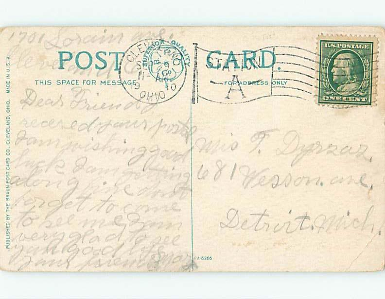 Bent Divided-Back POSTCARD FROM Cleveland Ohio OH HM7487