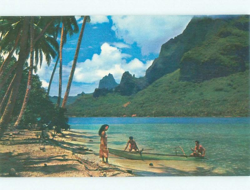 Pre-1980 NICE VIEW Cook'S Bay - Paopao At Moorea Tahiti i3987