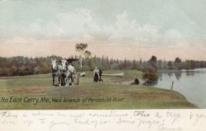 NORTH EAST CARRY, Maine , 1907; West Branch of Penobscot River