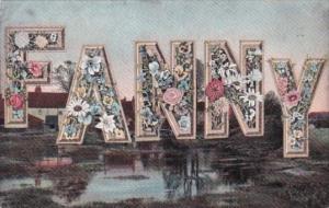 Name Card Fannie 1908