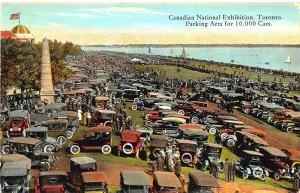 Toronto Canadian National Expo Parking Area For 10,000 Cars Postcard