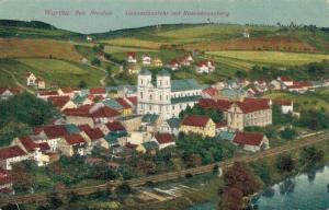 Czech Republic - Wartha Bei Breslau Gesamtansicht mit Rosenkranz Berg 02.57