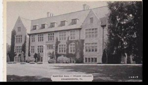 Pennsylvania Chambersburg Warfield Hall Wilson College Dexter Press Archives