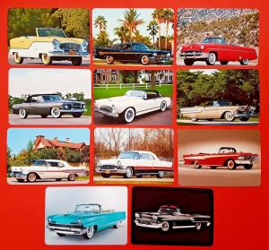 NEW Set of 11 Mini Postcards American Convertible Motor Cars Autos of the 1950s