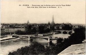CPA PARIS Panorama sur la Seine pris vers la Tour Eiffel (302608)