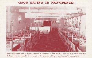 PROVIDENCE , R.I. , 1910s ; Johnson's Hummocks Sea Food Grill ; #1