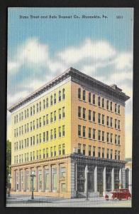Street View Dime Trust & Safe Deposit Co Shamokin Pennsylvania Unused c1940s