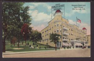 Majestic Hotel,Bath House,Hot Springs,AR Postcard