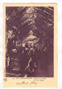 MARRAKECH, Dans les souks, In the souks, Morocco, 10-20s