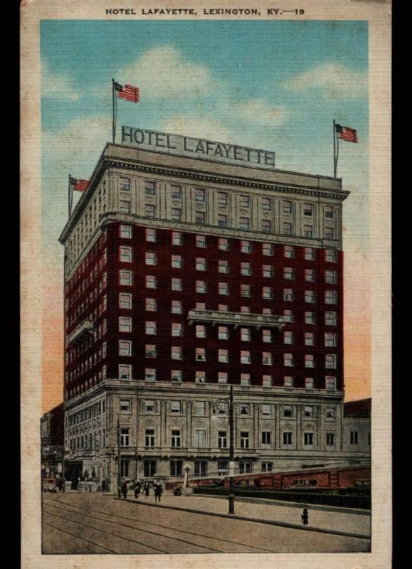 Campton KY Hotel Layfayette Lexington Kentucky E C Kropp Postcard B02