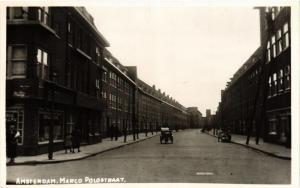 CPA Real photo- Amsterdam- Marco Polo Straat. NETHERLANDS (713914)