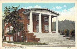 Kentucky Ky Postcard c1920 HARLAN Linen 40s Christian Church Building