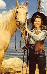 Cowgirl with horse Cowboy Unused