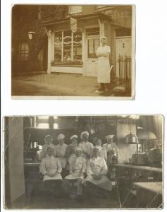 Baking Staff Group RP PC & T Wright Cakes & Pastries Shopfront Photo, Same Baker