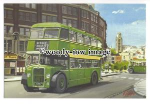 tm5710 - Bristol Tramways Bus L8133 - art G S Cooper postcard