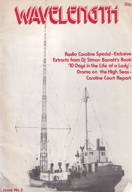 Wavelength Caroline Shop ISSUE 2 Pirate Radio Enthusiasts 1970s Magazine