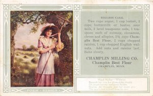 G29/ Champlin Minnesota Postcard c1910 Woman Advertising Milling Company