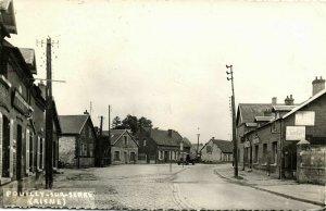 france, POUILLY-SUR-SERRE, Street Scene (1950s) RPPC Postcard