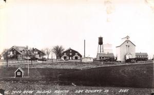 Odebolt IA Kids Play House~Barns~Elevator~Water Tower @ Adams Ranch RPPC 1940s