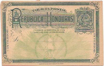 Honduras Tarjetas Postal 1893