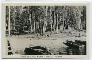Thousand Lakes Resort Upsala Ontario Canada RPPC Real Photo postcard
