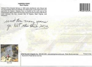 Wild Wonderful West Virginia Harpers Ferry Jefferson Co Postcard PCBT3-53021