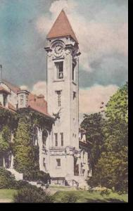Indiana Bloomington Student Building Indiana University Handcolored Albertype