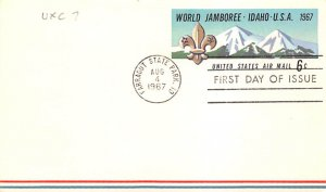 Scouts Post Card Jamboree, First Day Issue Farragut State Park, Idaho, USA Po...