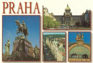 Czech Republic, Prague, praha, multi view, unused Postcard