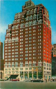 New York City~Hotel New Weston~Madison Avenue at 50th~Artist Drawing Ad 1950s PC